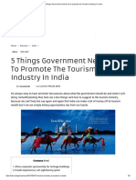 5 Things Government Needs Do to Promote the Tourism Industry in India