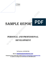 Sample Report on Personal and Professional Development