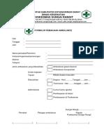 Formulir Pemakaian Ambulance