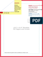 Booklet Layout Template 76under Standard 55x85