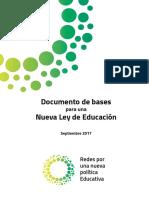 Documentos de Bases  para una Nueva Ley de Educación