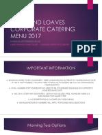 Catering Menu 2017