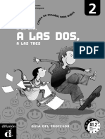 A La Una Libro 2 Profesor Espanol