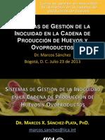 1. Sistemas de Gestión de La Inocuidad en La Cadena de Producción de Huevos y Ovoproductos.