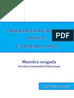 Muestra Programación Educación Musical Comunidad Valenciana