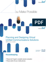 BRKUCC-2225 Planning and Designing Virtual Unified Communications Solutions