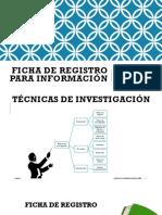 Ficha de Registro Para Información