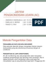 Konsep Sistem Pengkondisian Udara (Ac)