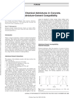 Chemical admixtures