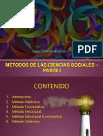 Métodos de Las Ciencias Sociales Parte i 2017