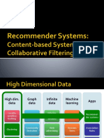 CSF 469 L17 19 Recommender Systems