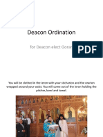 Deacon Ordination Information for Deacon Elect Goran