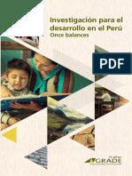 Investigación Para El Desarrollo en El Perú Once Balances