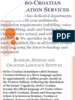 Serbo-Croatian Translation Services