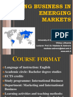 Course Format Business in Bric