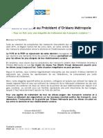 Lettre ouverte au président d'Orleans Metropole - FCPE PEEP