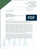 Carta a congresista Ursula Letona, presidenta de Comisión de Constitución