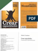 Crear Capacidad - Martha Nussbaum