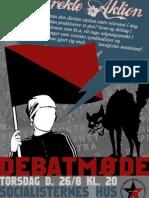 Plakat for møde om direkte aktion - LS-Aalborg