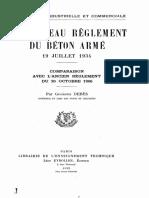 Circulaire 1934 Béton Armé