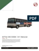 Bus New York City Bus 9-11 Memorial Papercraft