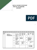 Jadual Kursus Intensif 16 17 Full 221216 3ptg