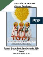 Misa de Acción de Gracias de Los Niños Mártires de Tlaxcala