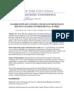 Leader Stewart-Cousins and Senate Democrats Receive Leading Environmental Scores
