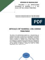Fraccionamiento y r. Gradualidad Art.178