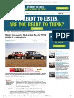 Maşini de Poveste_ 20 de Ani de Toyota RAV4, Pionierul Crossoverelor - AutoMarket