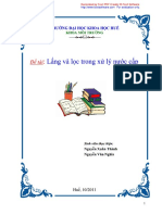 Đề Tài_ Lắng Và Lọc Trong Xử Lí Nước Cấp - Luận Văn, Đồ Án, Đề Tài Tốt Nghiệp