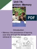 Psychology - Cognition Memory