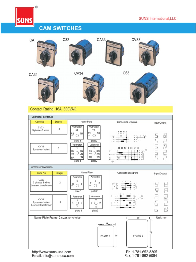 Cam Switchpdf Switch Electrical Components Ammeter Wiring Diagram With Ct