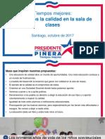Propuesta de educación de Sebastián Piñera