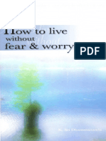 How to Live Without Fear & Worry