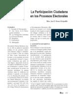 La Participacion Ciudadana en Los Procesos Electorales