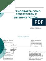 La Etngrafia Como Descripción e Interpretación