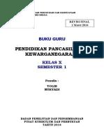 Cover Buku Guru Ppkn Kelas x Semester 1
