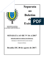 Boletim de promoção aspirantes 2017