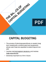 The Basics of Capital Budgeting 2015