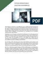 """Pétition internationale """"Justice pour Odón Mendoza"""""""