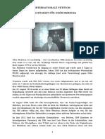 """Internationale Petition """"Gerechtigkeit für Odón Mendoza"""""""