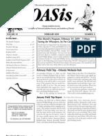 February 2004 OASis Newsletter Orange Audubon Society