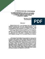 Hacia La Proteccion Del Consumidor La Responsabildad Por Danios Al Consumidor en El Proyecto de Ley de Los Doctores Atilio a Alterini Roberto Lopez Cabana y Gabriel a Stiglitz (1)