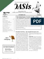 November 2005 OASis Newsletter Orange Audubon Society
