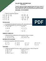 Taller Final Matemáticas 9[1]