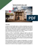 Historia de andahuaylillas (Cusco)