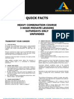 ADEADV1039 - Quick Facts & T&C - Heavy Combination Saturday Course NON