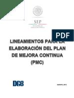 Lineamientos Para La Elaboración Del PMC (7A)