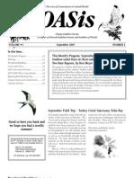 September 2007 OASis Newsletter Orange Audubon Society